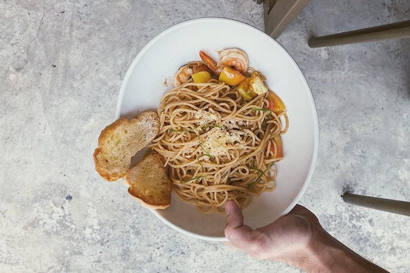 Whole Grain Shrimp Pasta